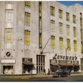 Loveman's was a department store in Birmingham, AL that began in 1887. A large new store was constructed on this corner in 1890. It burned down in 1934. This art deco masterpiece was constructed on the same site in 1935. Loveman's declared bankruptcy in 1979 and closed in 1980.
