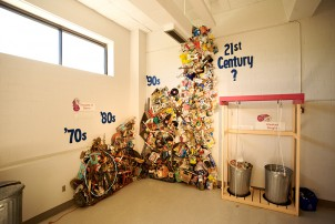 Trash chart and sculpture